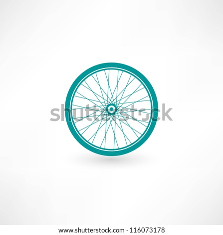 Bicycle Wheel Symbol - stock vector