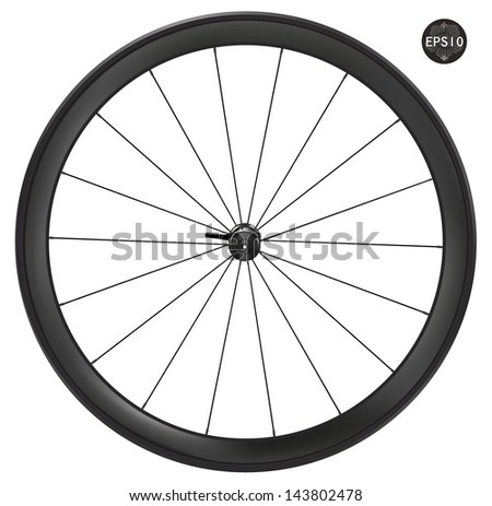 Bicycle wheel, vector, eps10 - stock vector