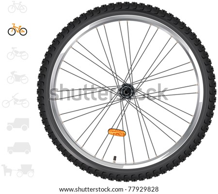 Bicycle wheels.