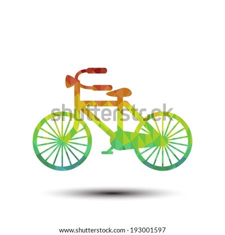 Bicycle with Abstract colorful pattern - Vector