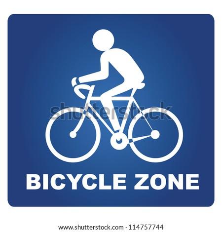 bicycle zone - stock vector