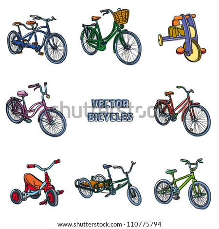Bicycles. Vector illustration - stock vector