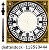 Big ben clock in very high detail - vector - layered and grouped - stock vector
