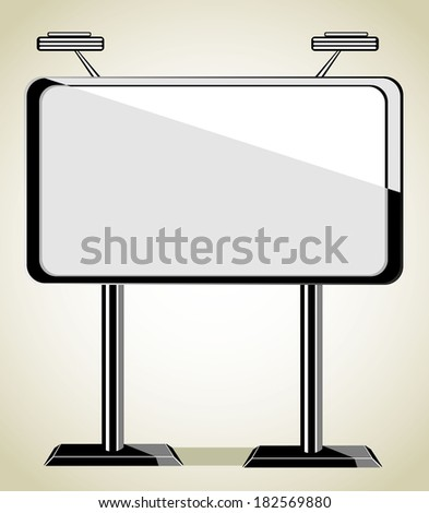 big billboard - stock vector