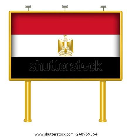 Big billboard Egypt flag - stock vector