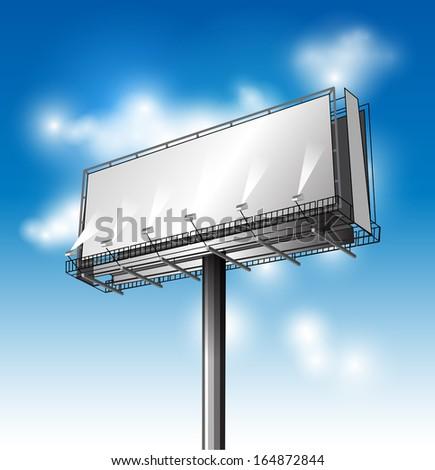 Big billboard. Vector illustration - stock vector