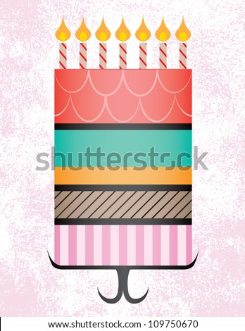 Tall Birthday Cake Clip Art : Tall Cake Stock Images, Royalty-Free Images & Vectors ...