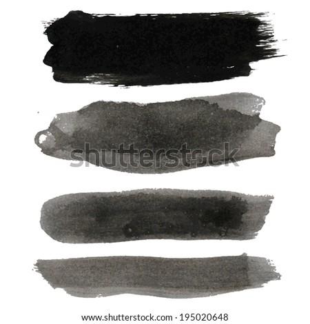 Big Black Blots Collection, - stock vector