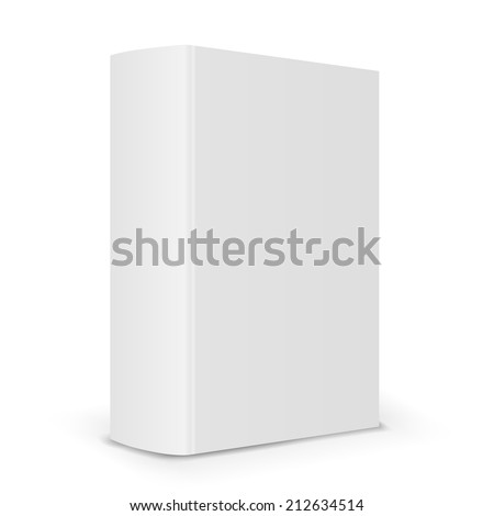 Big blank book cover back Vector illustration over white background - stock vector