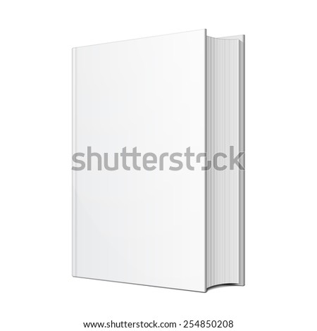 Big Blank Hardcover Book Illustration Isolated On White Background. Mock Up Template Ready For Your Design. Vector EPS10 - stock vector