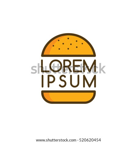 big burger logo logotype theme