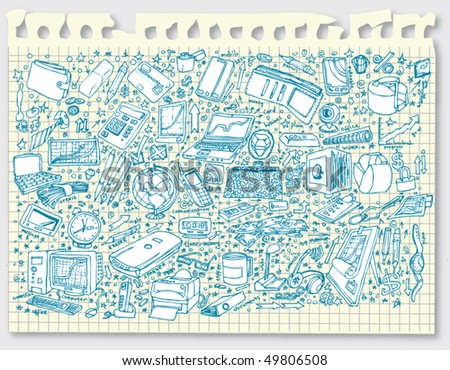 Big Business Doodles Collection (vector) - stock vector