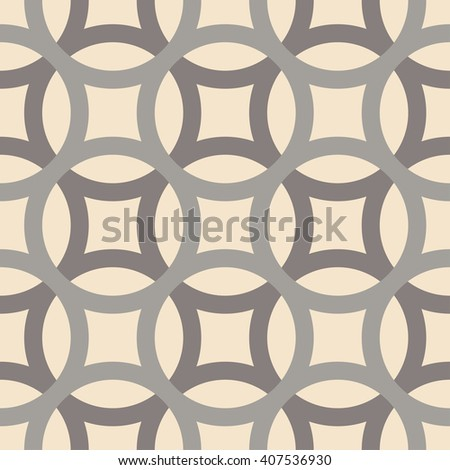 Big circles crossed seamless pattern grey - stock vector