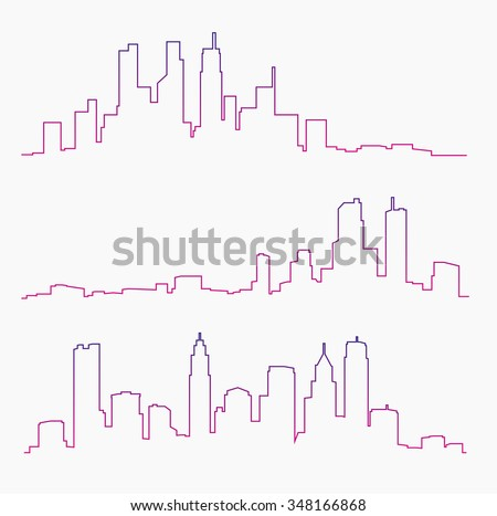 Big city skylines - stock vector