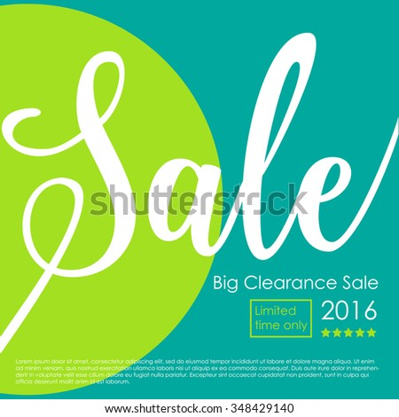 Big Clearance Sale Poster - stock vector