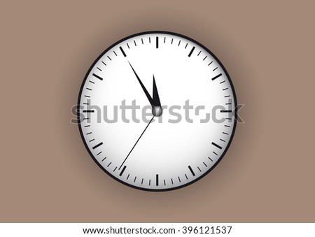 big clock on a beige background
