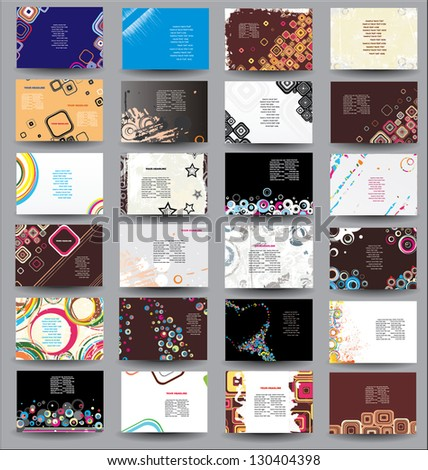 Big collection Flyers - stock vector