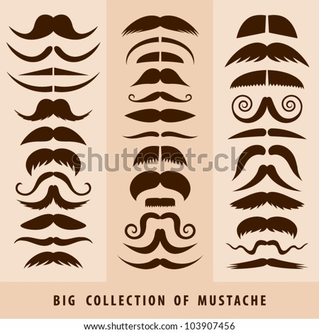 Big collection of mustache.