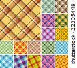 Big collection of seamless plaid patterns. Volume 9 - stock vector