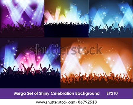 big collection of spotlight party event background