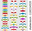 Big collection of vector ribbons and badges - stock photo