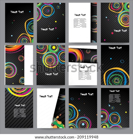 Big collection posters - stock vector
