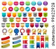 Big Collection Sale Stickers And Web Ribbons Set, Vector Illustration - stock photo