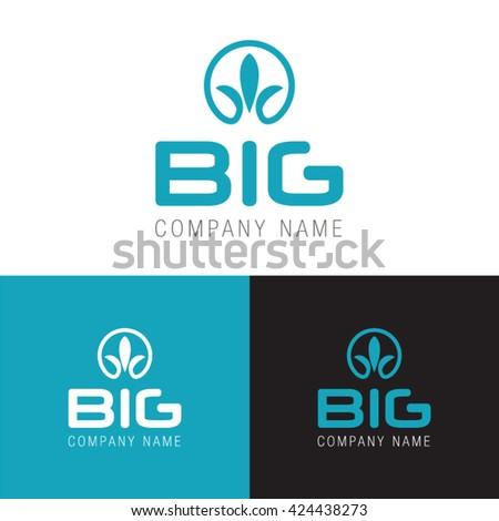 Big Company Name Logo Modern Symbol Stock Vector 424438273