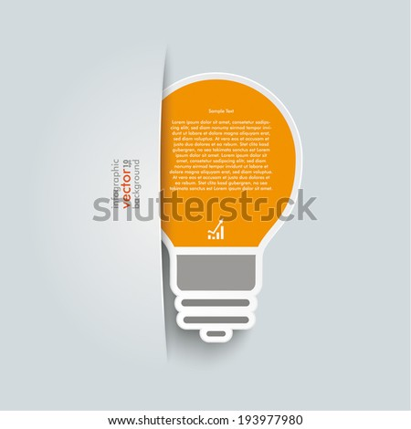Big convert bulb on the grey background. Eps 10 vector file. - stock vector