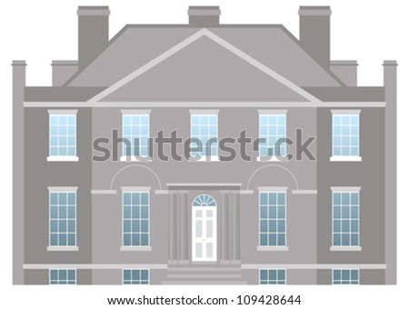 Big country house, family home - stock vector