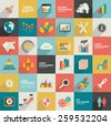 Big data,Data analysis,Business stock analysis and financial,flat icons,clean design,clean vector - stock vector
