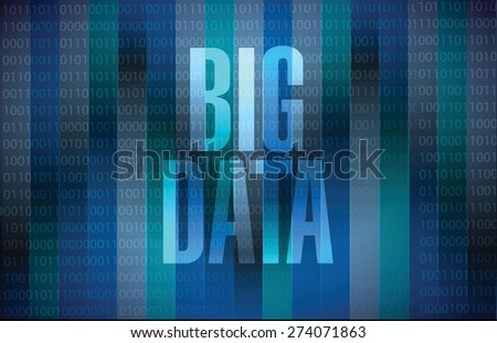 Big data sign concept illustration design over black