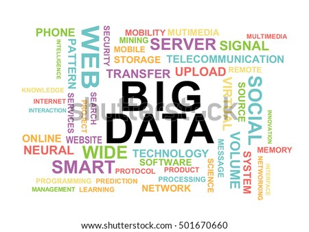 Big data word cloud. Information Technology Concept Word Cloud.