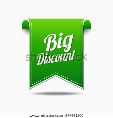 Big Discount Green Vector Icon Design