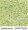 Big doodled ecology icons collection. Small hand-drawn illustrations are isolated (group) and in eps8 vector mode. - stock vector