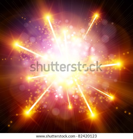 Big Explosion - stock vector