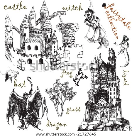 big fairytale vector collection - for your ideas, works and inspirations - stock vector