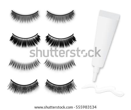 Big Eyes And Eyelashes Fashion Illustration