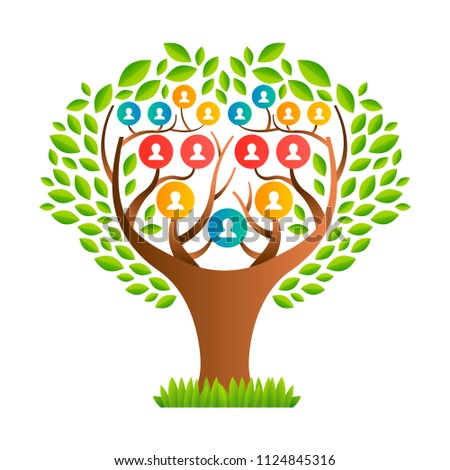 Big Family Tree Template Concept People Stock Vector Hd Royalty