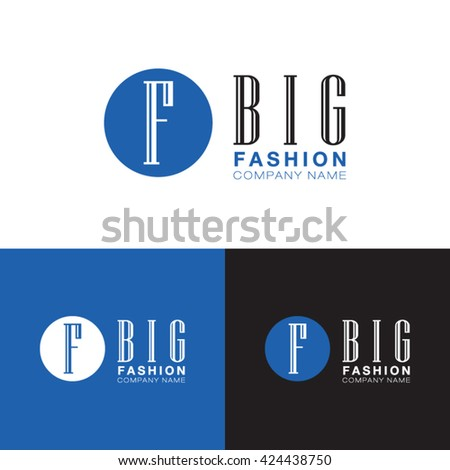 Big Fashion Company Name Logo Modern Stock Vector 424438750