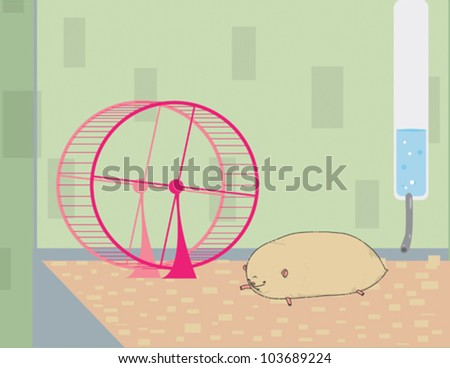 Big Fat Hamsters Big Fat Hamster Stock Vector