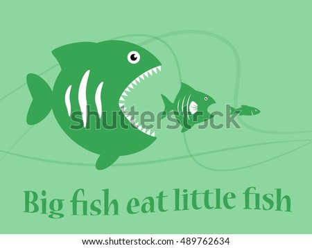 Big fish eating little fish stock photos royalty free for Big fish little fish