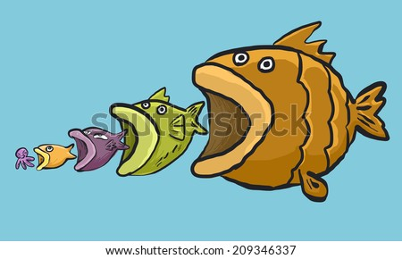 Little fish stock images royalty free images vectors for Big fish little fish