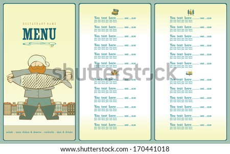 Stock images similar to id 57861079 mermaid silhouette for Big fish grill menu