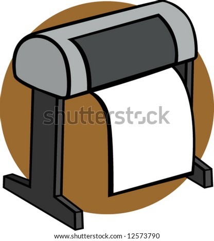 big format printer - stock vector