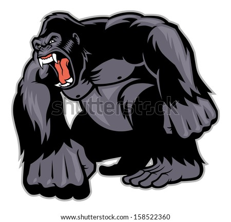 Big Gorilla mascot - stock vector