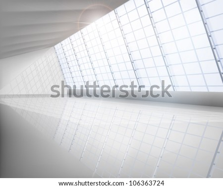 Big hall. Vector illustration. - stock vector