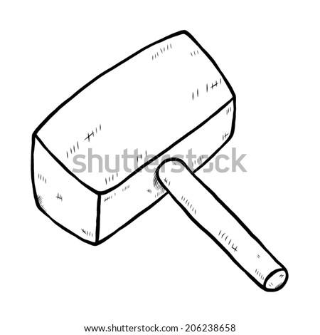 Kitchen Knife Chopping Block Cartoon Vector Stock Vector 172939535 - Shutterstock