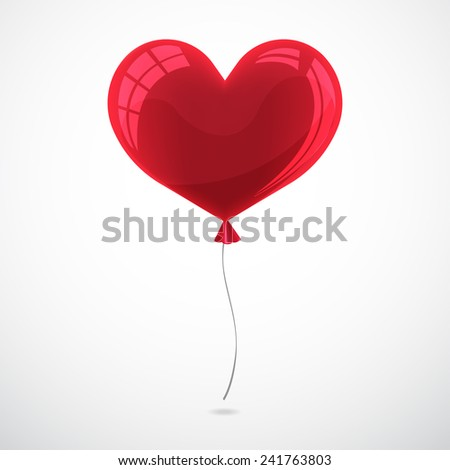 Big heart vector for happy valentine's day.