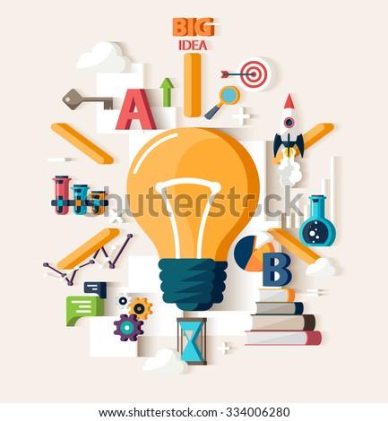 Big Idea concept. Flat design. - stock vector